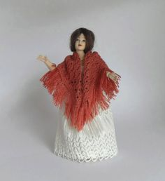 1:12 scale Dollhouse Miniature Square Shawl in by MiniatureJoy