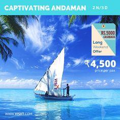 Captivating Andaman: 2N/3D Rs.5000 Instant Cashback Offer visiit.com