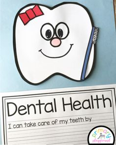 Tooth Craft/Dental Health With Writing Prompts/Pages
