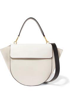 Wandler | Hortensia smooth and textured-leather shoulder bag | NET-A-PORTER.COM