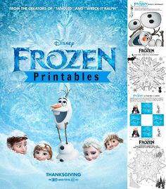 Disney's Frozen Printables & Coloring Sheets