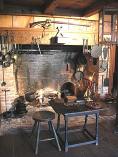 Nice fireplace. We had one of these where I grew up. We could cook on it. Mama used to bury potatoes in the hot ashes, cover with coals and make baked potatoes.