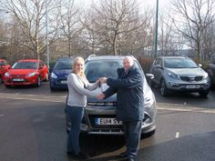 Mrs Butler from West Tilbury was our first pictured proud new owner of a 14 plate with her Ford Kuga. Congratulations!