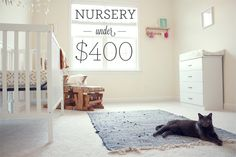 here's how to create a cute, cheap, DIY nursery with furniture and decorations for less than 400 dollars