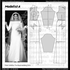 Sewing Patterns Dresses Wedding Bridal Gowns 26 New Ideas Sewing Dress, Dress Sewing Patterns, Sewing Clothes, Clothing Patterns, Wedding Dress Patterns, Wedding Dresses, Costura Fashion, Modelista, Pattern Cutting