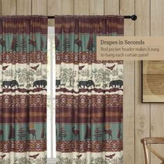 DRAPES IN SECONDS: A rod pocket header makes it easy to drape the panels with a curtain rod of your choice.