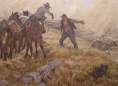 Argument with the Sheepman-Harvey Dunn Western Art, Back In The Day, Cowboys, Masters, Illustrators, Composition, Cactus, Study, Paintings