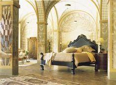 Art deco bedroom!!!! Love the aerial space