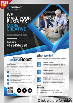 Corporate Business Flyer Free PSD is best for promoting your Business Services as well about your Company, Organization, Agency with a modern design look. The Corporate Business Flyer Free PSD is designed and created in adobe Photoshop. Brochure Examples, Free Brochure, Corporate Brochure Design, Company Brochure, Corporate Flyer, Brochure Template, Corporate Business, Business Flyers, Creative Business
