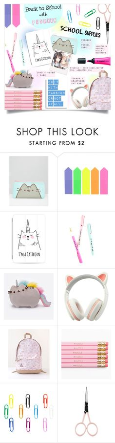 """""""PUSHEEN THE CAT"""" by larissa-takahassi on Polyvore featuring Pusheen, Casetify and Anastasia Beverly Hills"""