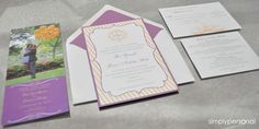 Wedding Invitations Pink and Gold   Simply Personal by Dallas Wedding Planner, Altar Ego Weddings