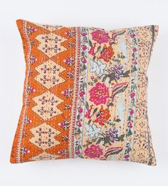 Beautiful Floral Orange 20x20 Pillow Cover by gypsya on Etsy, $30.00
