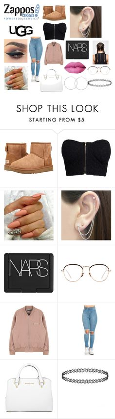 """""""The Icon Perfected: UGG Classic II Contest Entry"""" by rellykk on Polyvore featuring UGG Australia, NLY Trend, Otis Jaxon, NARS Cosmetics, Linda Farrow, Michael Kors, ugg and contestentry"""