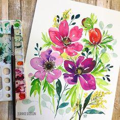 Zoom out! (see previous post to zoom in) #floralfriday #inspiration @mijello_mission @cansonpaper @colirocolors . . . #watercolor #watercolorpainting #artistic #art #artwork #painting #paintingart #paintings #artcollective #art_help #artislife #art_empire #paintingoftheday #artsanity #instaart #instaartist #instacool #artstagram #artofinstagram #worldofartists #artsyfartsy #watercolorflorals #florals #watercolors