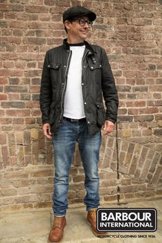 We spotted Alex at Bike Shed and loved his style. Alex is sporting the Enfield Wax Jacket.