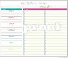 This listing is for a personalized Shopping Checklist printable in a PDF file format - to be printed on 8 1/2 x 11 inch paper. The Shopping