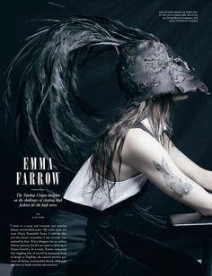 Love Magazine - Emma Farrow Her rabbit tattoo is really neat. Superhero Fashion, Stephen Jones, Rabbit Tattoos, Love Magazine, Topshop Unique, Abstract Pictures, Gloria Vanderbilt, Pop Culture, Stylists