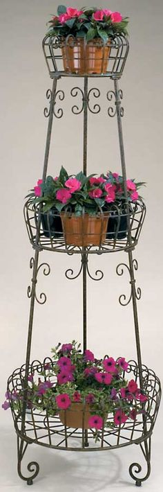 107 Best Pot stands - Wrought Iron images | Wrought iron ... on Iron Stand Ideas  id=14820