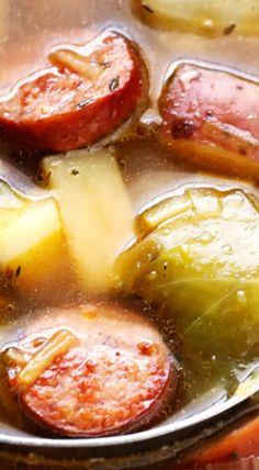 Cabbage, Sausage and Potato Soup
