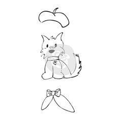Prima Julie Nutting Cling Stamp Dog Treats by ScrapbookDoodle
