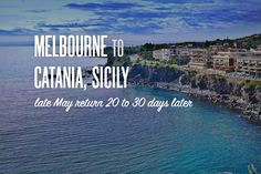 Inspire9's Rocket Williams' favourite Adioso search: Melbourne, AU to Catania, IT late May return 20 to 30 days later http://adioso.com/au/melbourne-au-to-catania-it-late-may-return-20-to-30-days-later