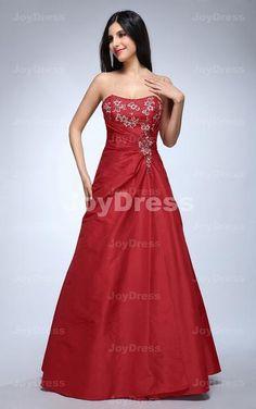 Embroidery Princess Sweetheart Floor-length Dress
