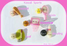 Kawaii Sports Earrings by Bojo-Bijoux.deviantart.com