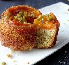 Petits gâteaux renversés à l'abricot et l'huile d'olive
