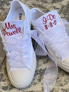 Excited to share this item from my #etsy shop: I DO Embroidered Bride wedding shoes, Groom Wedding wedding shoes, Monogrammed Sneakers,Decorated Sneakers (Low Top) Wedding Shoes Bride, Wedding Groom, Bride Shoes, Converse Wedding Shoes, Wedding Sneakers, Groom Shoes, Colorful Shoes, All White Sneakers, Me Too Shoes