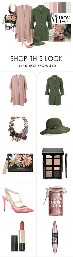 """""""The new muse"""" by claire86-c on Polyvore featuring moda, L.K.Bennett, Topshop, Marc Jacobs, Betmar, Lizzie Fortunato, Bobbi Brown Cosmetics, Valentino, Major Moonshine e Estée Lauder"""