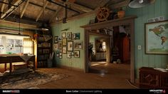 Boon Cotter: Light Magic with Uncharted 4 A Thief's End, Interior Architecture, Interior Design, Game Environment, Lighting Concepts, Rustic Stone, Construction, Decoration, Future House