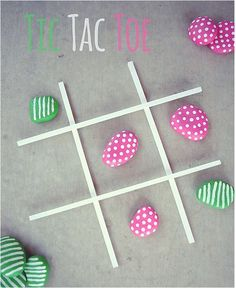 So sweet and simple, this painted rocks tic-tac-toe will keep the kids busy for this last month of summer. Project by Eighteen 25.