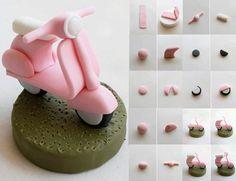 Fimo or fondant Fondant Toppers, Fondant Cakes, Cupcake Cakes, Fondant Olaf, Fondant Baby, Cake Topper Tutorial, Fondant Tutorial, Cake Decorating Techniques, Cake Decorating Tutorials