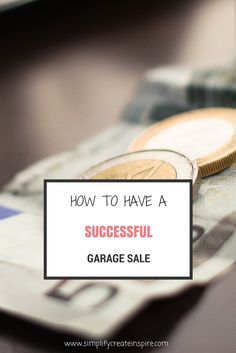 Tips on how to prepare & hold a successful garage sale that maximises profits & selling.