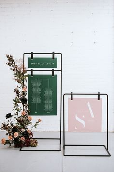 Welcome Sign and Seating Chart stand hire for events in Melbourne Vic Event Signage, Wayfinding Signage, Signage Design, Wedding Signage, Cafe Signage, Retail Signage, Display Design, Store Design, Design Design