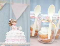 Love the cupcakes in Mason Jars!!