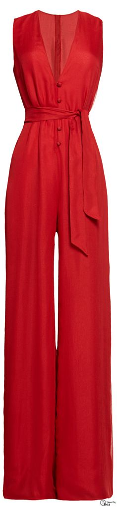 Martin Grant ● SS 2014 red jumpsuit #UNIQUE_WOMENS_FASHION…