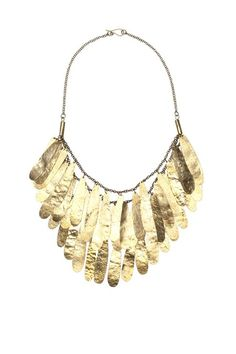 Nama Brass Fringe Necklace