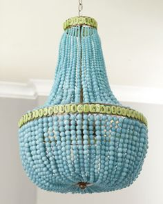 Turquoise Drape Chandelier at Horchow.