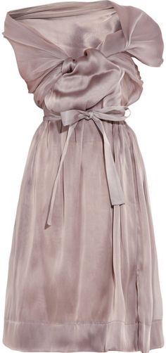 Vivienne Westwood Gold Label Riding Asymmetric Silk organza Dress