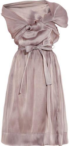 VIVIENNE WESTWOOD   Riding Asymmetric Silkorganza Dress     dressmesweetiedarling