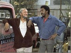 Redd Foxx and Demond Wilson in Sanford and Son 70s Sitcoms, Redd Foxx, Color Television, Vintage Television, Sanford And Son, School Tv, Nbc Tv, Black Tv, Artists