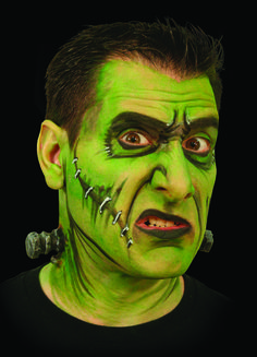 FX kit contains everything you need to create a classic Hollywood creature effect. Enough makeup to apply a number of times. Kit contains pair of Woochie High Voltage bolt appliances, Frankenstein Halloween Men, Halloween Cosplay, Halloween Costumes For Kids, Halloween Makeup, Halloween Themes, Frankenstein Makeup, Frankenstein Costume, Face Painting Halloween Kids, Monster Makeup