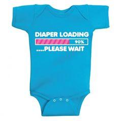 Diaper Loading Onesie.