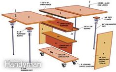 Fit a huge work area into a small space with this folding workbench.