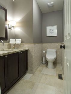 Bathroom Design, Pictures, Remodel, Decor and Ideas - gray and tan again - must be a trend???