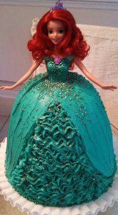 Ariel barbie cake