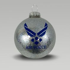 Air Force Home Collection Painted Christmas Ornaments, Glitter Ornaments, Handmade Christmas Decorations, Christmas Baubles, Glass Ornaments, Diy Ornaments, Glitter Timberlands, Christmas Crafts, Christmas Ideas