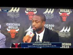 DWYANE WADE ENTIRE FULL CHICAGO BULLS INTRODUCTORY PRESS CONFERENCE