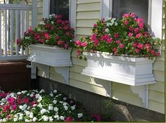 Window boxes with corbels.....I love it.